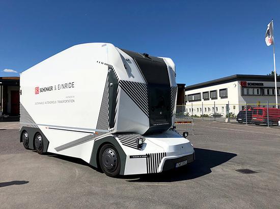 瑞典无人驾驶货运卡车 视觉中国 图