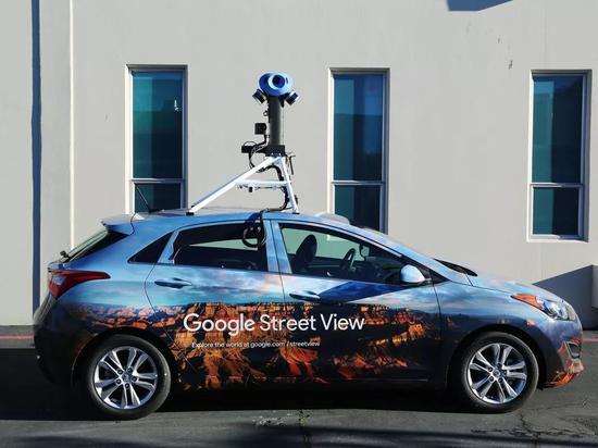 装配了高清相机的谷歌街景车