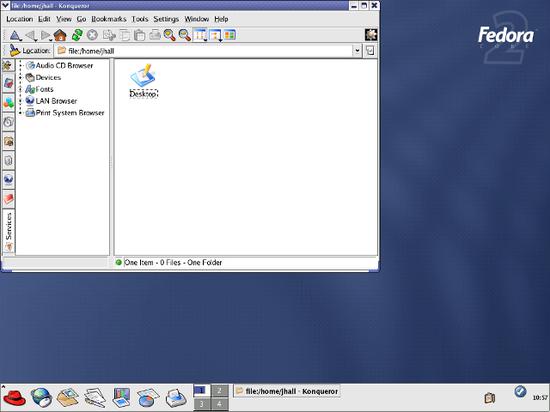 Fedora Core 2 上的 KDE 3.2.2(2004)