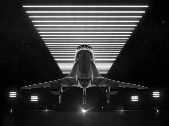 展示中的XB-1原型机 | https://boomsupersonic.com