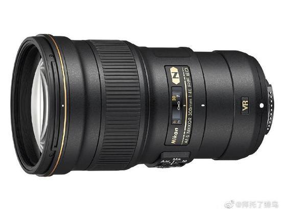 尼康Z 200mm F4定焦镜头专利曝光