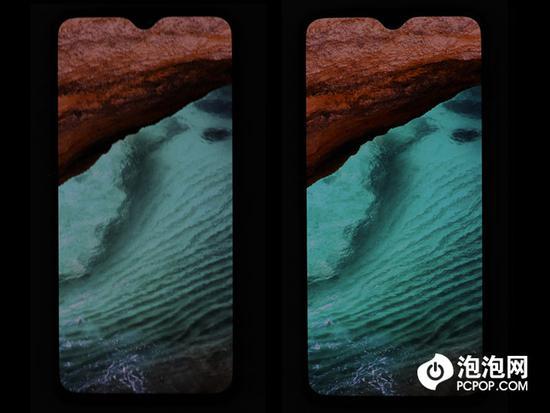左:sRGB,右:DCI-P3