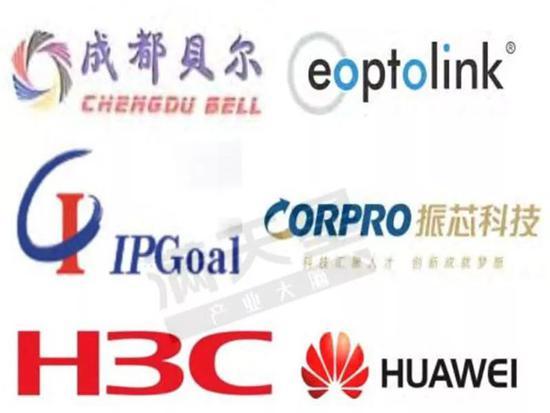 ▲成都5G相关企业