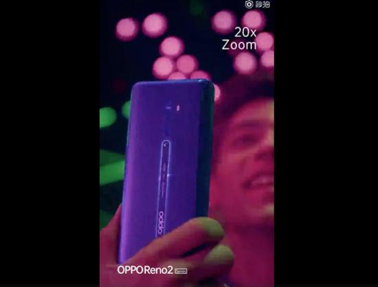 OPPO Reno 2真机视频曝光 后置四摄像头20倍变焦