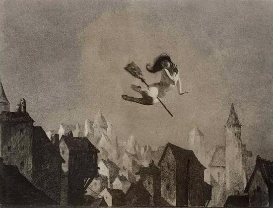 《安息日的飞离》(Off for the Sabbath),1927年,威廉·莫滕森(William Mortense)。图源:VAMzzz Publishing