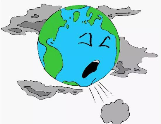 饱受空气污染的地球 图片来源:http://secondwindairpurifier.com