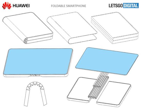 华为折叠屏手机要来了?专利外形图曝光
