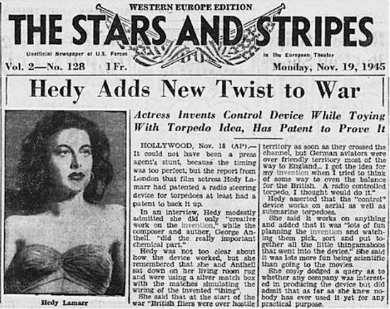 1945年报纸对拉玛发明的报道