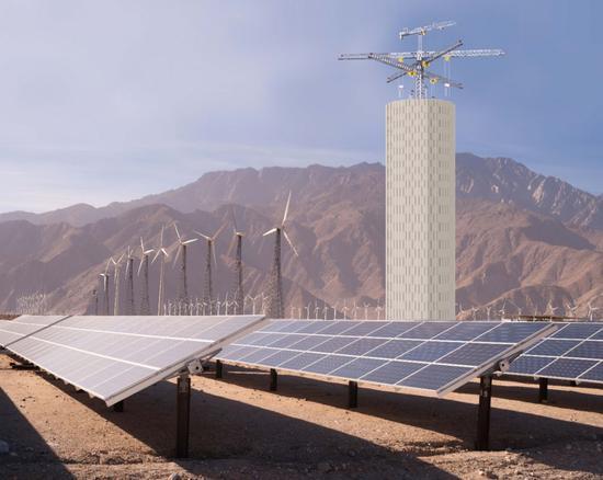 图|概念图:Energy Vault用于平衡可再生能源发电(来源:Energy Vault)