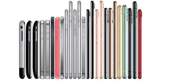 苹果历代iPhone,图源网络