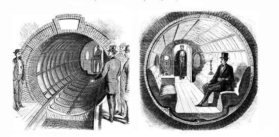 纽约第一条地铁由《科学美国人》主编阿尔弗雷德·埃利·比奇秘密修建。