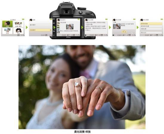 引导模式可以帮助拍摄背景虚化等不同效果的照片(图片来自尼康官网)