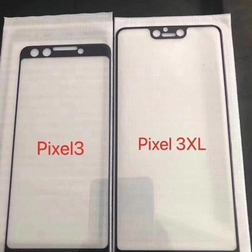 谷歌Pixel3系列两款新机钢化膜曝光(图源:weibo.com)