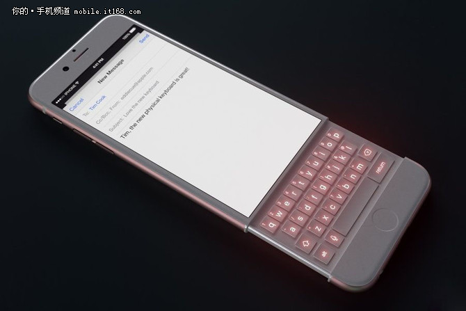 脑洞大开 配全键盘的iPhone概念设计图曝光,3D沙虫网