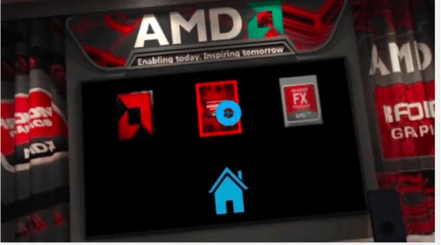 未来视频这样看 AMD虚拟休息室放视频