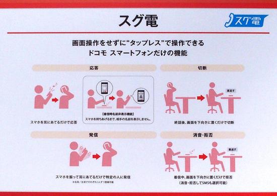 日本手机那些事:摇一下手机就能拨号通话