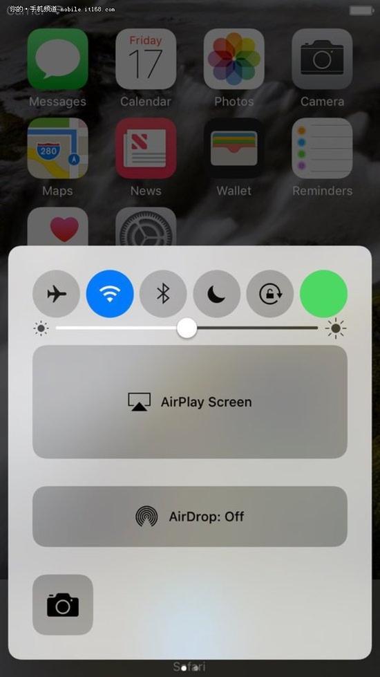 iOS 10曝光 终于新增蜂窝数据快捷开关