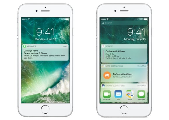 """苹果ios10锁屏详解:""""滑动来解锁""""已成为过去图片"""