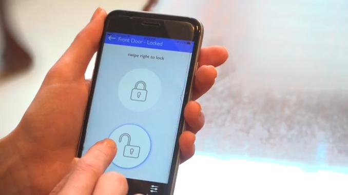 滑动屏幕开锁 手机控制开门你喜欢么?
