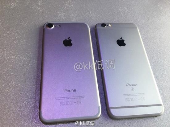 iPhone 7与iPhone 6s真机对比图曝光