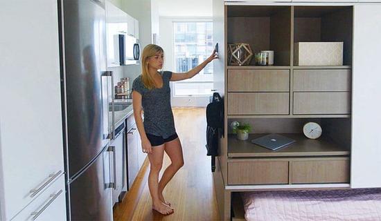 智能折叠家居系统 ori一秒把客厅变卧室