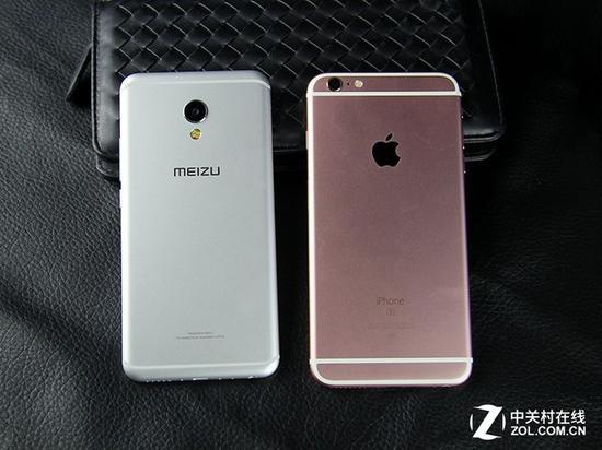 全金属机身 魅族mx6对比苹果iphone6s plus