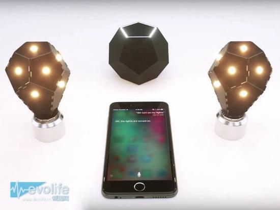 【智能硬件】蜂窝状智能电灯:不仅造型奇异 还支持Siri语音操控