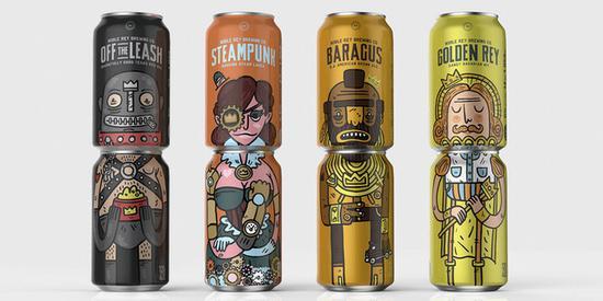 这啤酒有创意 要两罐一起喝才够完整