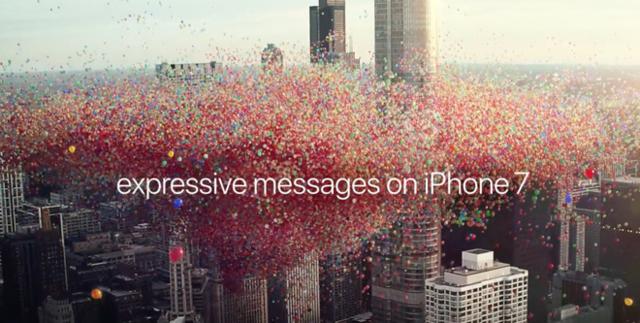 苹果发布最新iPhone7广告 亮点在气球