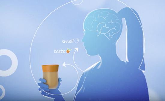 当我们喝进一些东西的时候,鼻子的感觉占80%,反而嘴巴的感觉只占20%