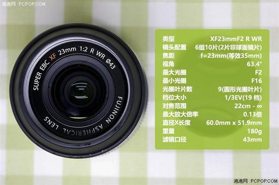 同时等效135焦距为35mm的富士xf