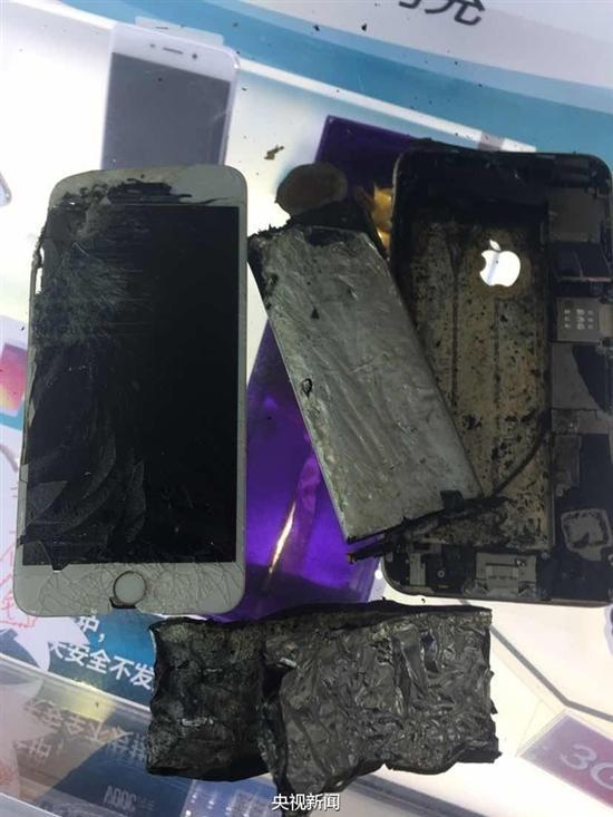 突然发生爆炸的iPhone 6 Plus