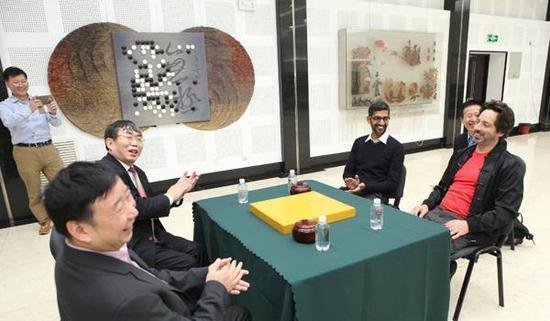 谷歌AlphaGo团队拜会聂卫平。