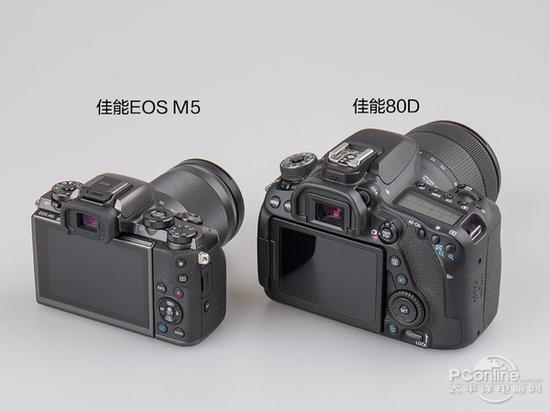 佳能EOS M5对比佳能80D