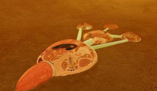 火星城市假想图。