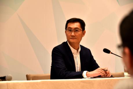 全国人大代表、腾讯公司董事会主席兼首席执行官马化腾。中国青年网记者 刘洪侠 摄
