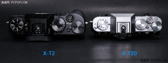 机顶转盘布局没太大差别,但X-T2具备单独的ISO调节转盘