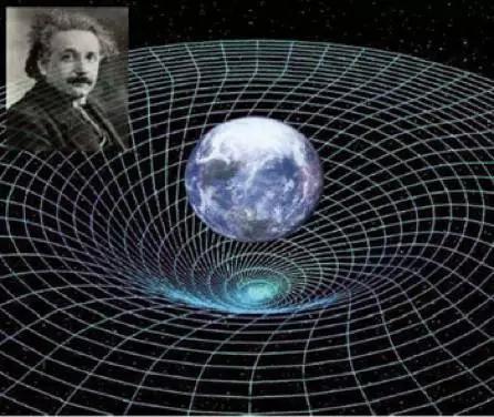 图5. 广义相对论预言的时空弯曲示意图(图片来源:NASA)