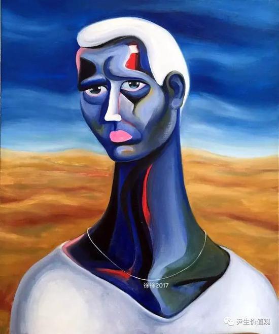 """题图:油画""""蓝""""系列,由画家徐徐授权尹生价值观独家使用。"""