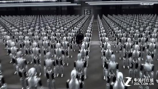 《机械公敌》电影场景