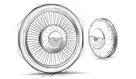 Urbanx 车轮的制作手稿