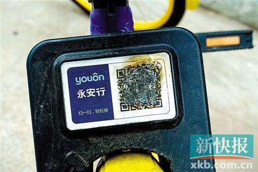2月26日,四川省成都市,共享单车的二维码被破坏。(CFP)