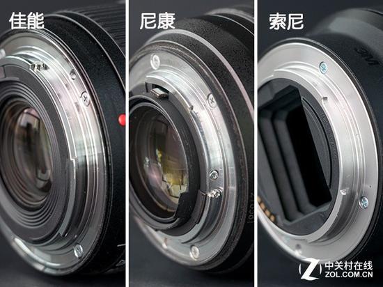 三支镜头均采用了金属卡口,但索尼没有配备橡胶圈