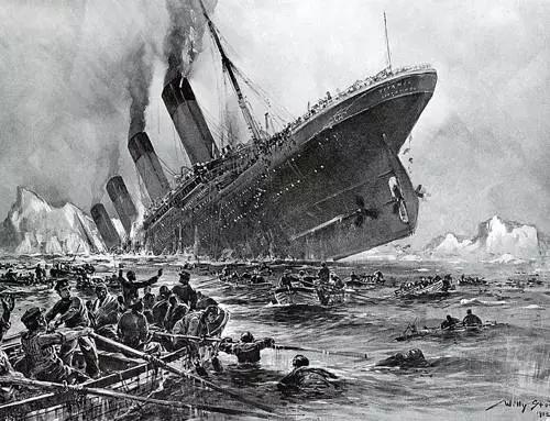 """冰山终结了""""永不沉没""""的""""泰坦尼克号"""""""
