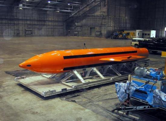 """被称为""""炸弹之母""""的大型空爆炸弹。 东方IC资料"""