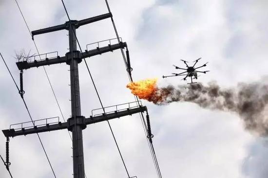 (由于更长续航、更大载量的需求,油动方案正逐渐取代电动方案,成为中大型无人机的首选。图/CPF)