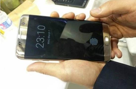 汇顶改造具有屏内指纹识别的三星手机