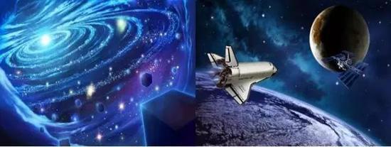 浩瀚的太空及太空中飞行的航天器