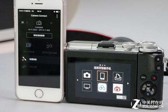 佳能EOSM6与智能手机相连接