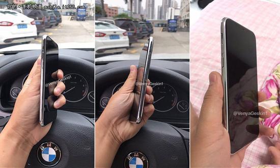 目前有网友曝光了疑似iPhone 8的工程样机。(图片源自于twitter)